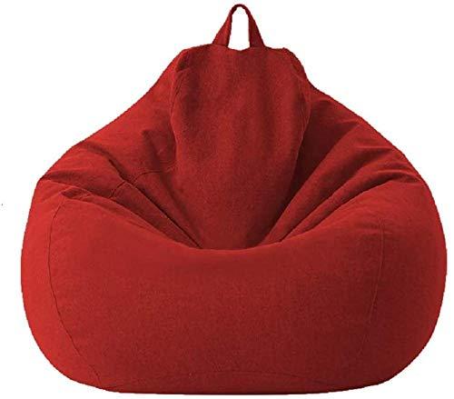 MeButy Puf grande para exterior, para sofá, sin relleno, con respaldo alto, para adultos y niños, S de color rojo