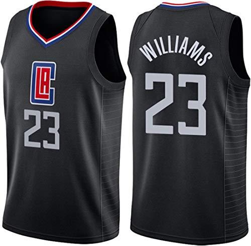 GIHI NBA Jersey degli Uomini, NBA Los Angeles Clippers Lou Williams # 23 Respirabile Freddo Tessuto Unisex Training Shirt Fan Senza Maniche Vest,A,XXL(185~190cm/95~110kg)