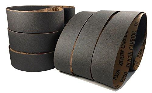 2 x 72 Premium Messerschleifer Schleifbänder in 6 Packungen und Sorten für 2 x 72 Bandschleifer Zirkonia, Keramik und Siliziumkarbid Körnung