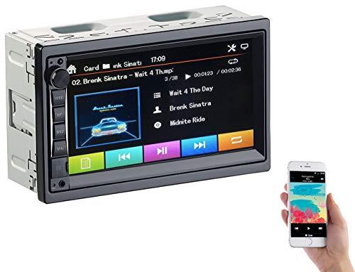 Creasono 2 DIN Radio: 2-DIN-MP3-Autoradio mit Touchdisplay, Bluetooth, Freisprecher, 4X 45 W (Autoradio DoppelDIN)