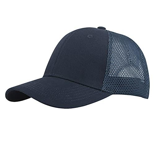 KELOYI Kappe Herren Trucker Cap Damen Baseball Basecap Dunkelblau Mesh Verstellbares Sonnenschutz Atmungsaktiv Licht