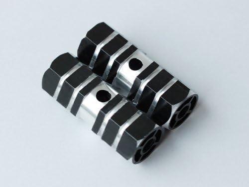 QQ Studio Black Aluminum Special sale item Alloy Stunt BMX Peg Foot for Bike Axle New item