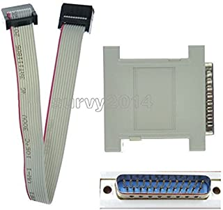 Exiron JTAG Download Cable Xilinx LPT Parallel programmer CPLD FPGA XC2C64 XC9572 DB25