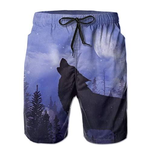 Troncos de natación para Hombre de Snow Wolf, Pantalones Cortos de Playa para Surf, Traje de baño, Talla XXL