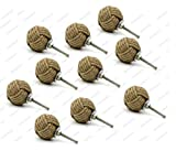 5MoonSun5's Jute Knobs Rope Knot Drawer Pulls and Knobs Pull and Push Handle Knobs for Cabinets, Wardrobes & Kitchen Cupboards Nautical knob Hardware Vintage Decor, 35 mm (Pack of 10)