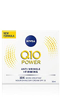 NIVEA Q10 Power Anti-Wrinkle + Firming Age Spot Day Cream SPF15 (50ml), Anti Ageing Cream + Creatine & Q10, Moisturiser for Women, Reduce Appearance of Wrinkles