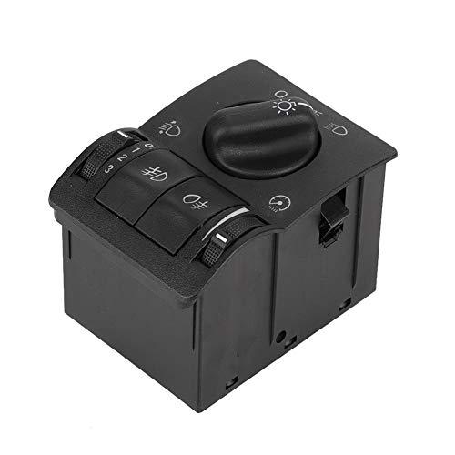 Duokon Interruptor de luz principal, faro antiniebla de luz principal Control de interruptor de luz para Vectra B 1995-2003 Zafira 1999-2005 Astra G 1999-2008 Negro