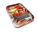 Top Media 180354 Lego Ninjago Serie IV, Tin Dose rot, 5 Booster, Limitierte Goldkarte und Figur
