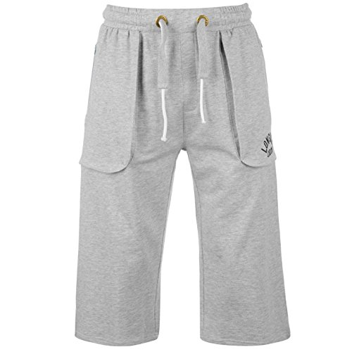 Lonsdale - Pantalones de boxeo para hombre gris XXXXL