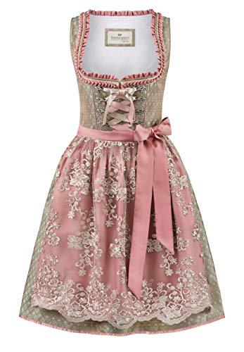 Stockerpoint Damen Dirndl Alice Kleid für besondere Anlässe, Schilf-Rose, 48