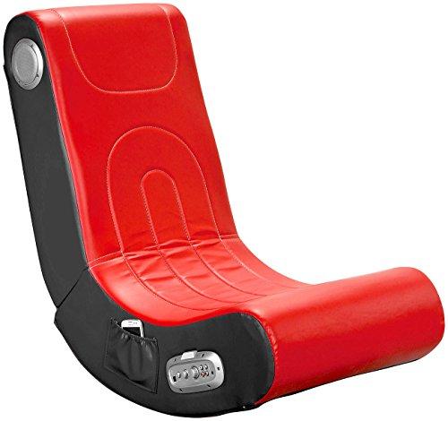 Mod-It Sessel mit Lautsprecher: Soundsessel mit 2.1-System für Gaming und Musik (rot) (Gaming Sessel mit Lautsprecher)