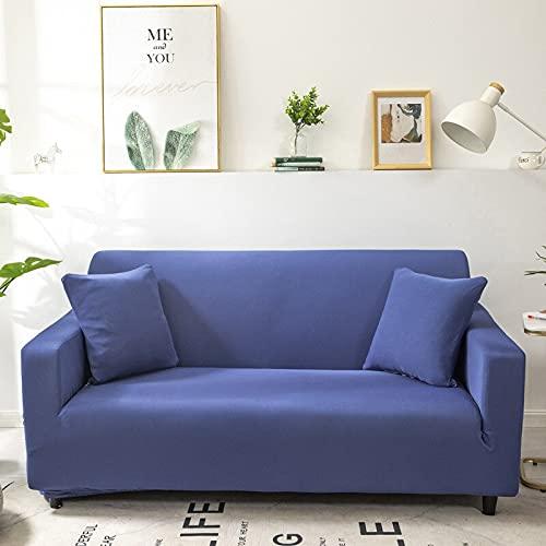WXQY Funda de sofá elástica de Color sólido, Funda de sofá elástica con Todo Incluido, sofá de Diferentes Formas, Funda de sofá en Forma de L A7 de 2 plazas