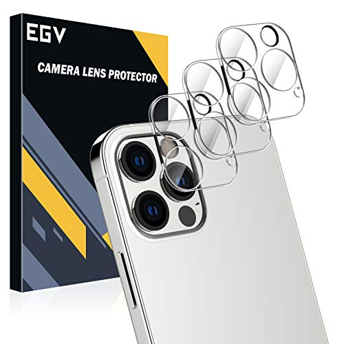 EGV [3 Pack] Camera Lens Protector Compatible with iPhone 12 Pro 5G (6.1''), HD Clear Tempered Glass Back Camera Protector [Anti-Scratch] [Ultra-Thin] [Easy Installation]