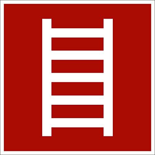 Leiter, Hart-PVC, 150 x 150 mm gemäß BGV A8 F04, Brandschutzzeichen Schild, 15 x 15 cm