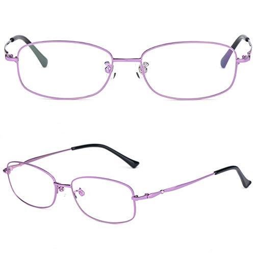 CYY Gafas de Lectura Clásico Moda de Metal para Mujeres,Lectores de Ordenador Que Bloquean La Luz Azul Celeste,con Lentes Transparentes Protección UV(1.5D,1.75D,2.5D)