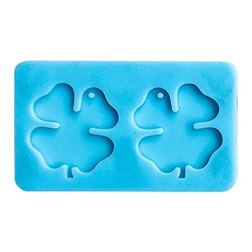 Moosunsa Orecchini a forma di quadrifoglio, in silicone, adatti per resina epossidica per la produzione di gioielli fai da te