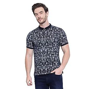 Monte Carlo Men's Checked Slim Fit Cotton Blend T-Shirt 15 41zI2Q3fM0L. SS300
