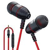 Kabelgebundene Bass-Metall-Kopfhörer, geräuschisolierender Sound und Stereo-In-Ear-Kopfhörer mit Mikrofon und Lautstärkeregler, Aluminiumlegierung, Karabiner, 3,5 mm Klinkenstecker für Handys