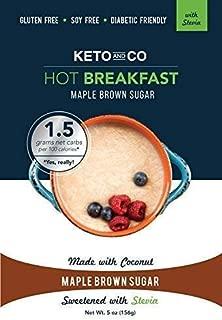 Keto Hot Breakfast (Stevia Maple Brown Sugar Flavor - 8 Servings)