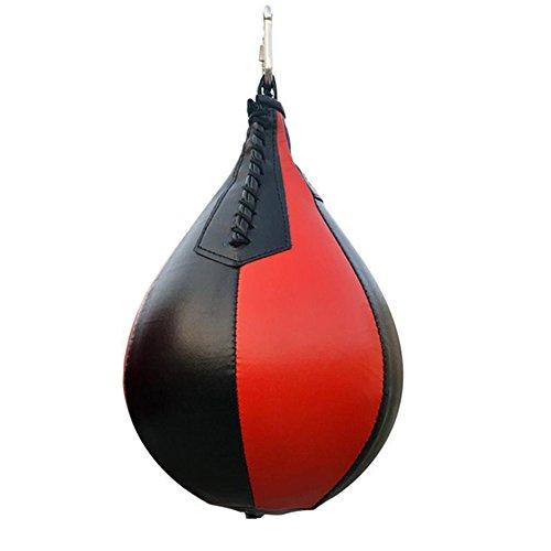 AITOCO Pelota de Boxeo de la Bola del Boxeo de Cuero, Bolso de la Velocidad Bolso de la perforación Durable 100% de la Bola giratoria de la Velocidad del eslabón Giratorio Seguro