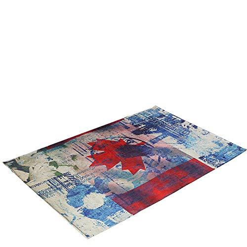 gj Tapis de Sol imprimé, Tapis Anti-dérapant résistant à l'humidité,A,100 * 140cm