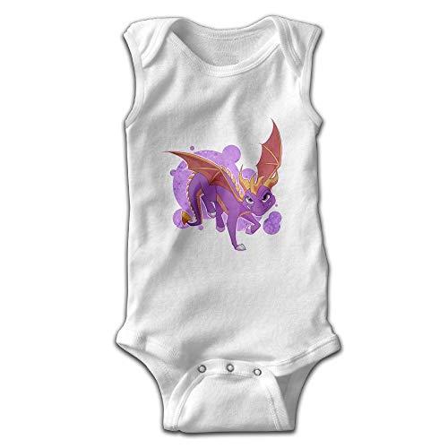 FAVIBES Infant Baby Girl Boy Spyro lila Drache ärmellose Kletterkleidung Kleinkind Bodys 100% Baumwolle Overall Größe 6M