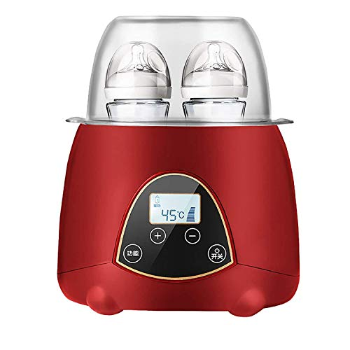 MYRCLMY Bottle Warmer with Display Precise Auto-Off Temperature Control,Two-In-One Constant Temperature Intelligent Heat Preservation And Automatic Milk Warming,Red