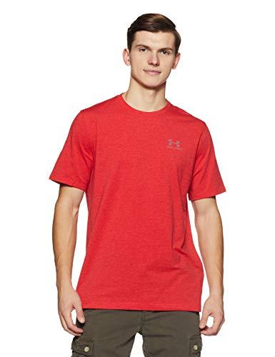 Under Armour Cc Left Chest Lockup, Camiseta para Hombre, Rojo (Red/Steel), L