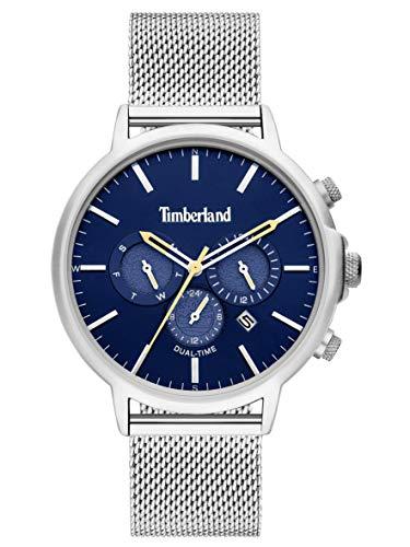 Timberland Reloj Analógico para Hombre de Cuarzo con Correa en Acero Inoxidable TBL15651JYS.03MM