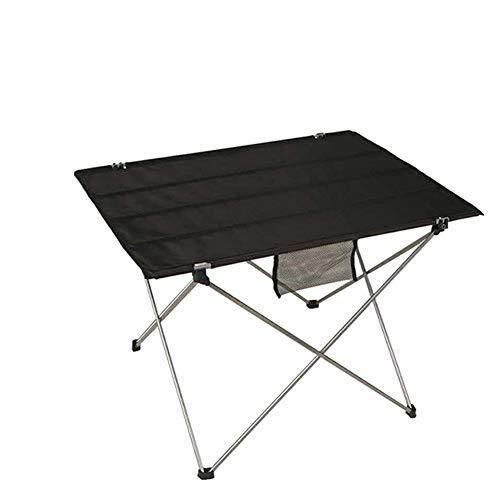 JS Outdoor Aluminium Klappstuhl tragbar mit Oxford Tuch (Farbe : Schwarz)