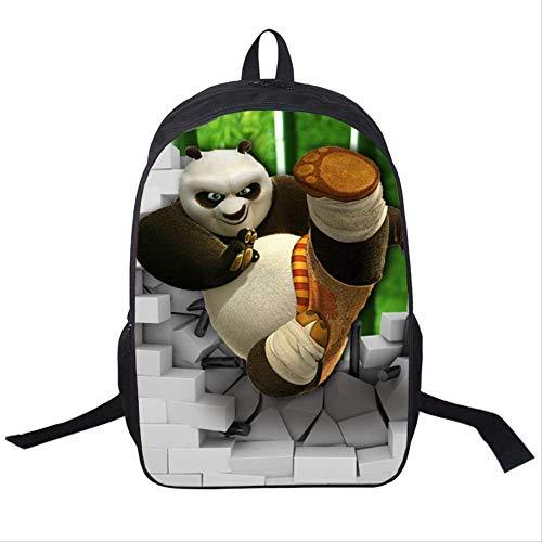 Rucksäcke,Kinder-Animation Filme Serie Gelegenheits Daypack,Animierte Panda Druck Schulranzen,verschleißfeste und komfortable 16 inches.6