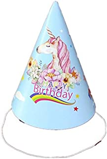 10pcs/lot unicorn Theme Party Paper Hats Caps For Kids Children Birthday Party Decoration Supplies cocked hat with strings