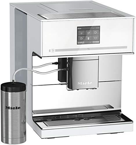 Miele CM 7500 Kaffeevollautomat (Automatische Entkalkung, Kaffee- und Tee-Zubereitung, Tassenwärmer, 10 Genießerprofile, Tassenbeleuchtung, OneTouch- und OneTouch for Two-Zubereitung) weiß