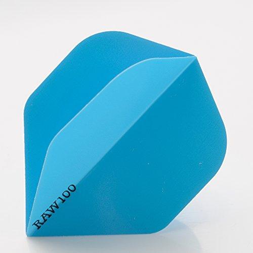 5 x SETS RAW100 EXTRA TOUGH NEON blau DART FLIGHTS STANDARD SHAPE 100 MICRON STRONG