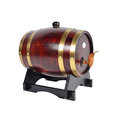 LIWine Barril de Vino de Madera Barril De Vino De Roble De Alto Grado, Barril De Vino, Dispensador De Cerveza, Whisky, Barrica, Cerveza, Ron, Cubo De Almacenamiento, Cubo 1.5L 3L