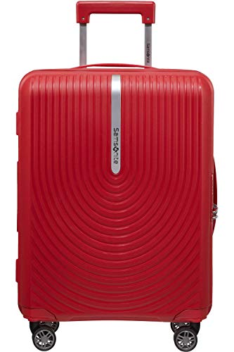 SAMSONITE Hi-Fi Spinner Red TSA Suitcase with 4 Extendable Wheels 55 cm