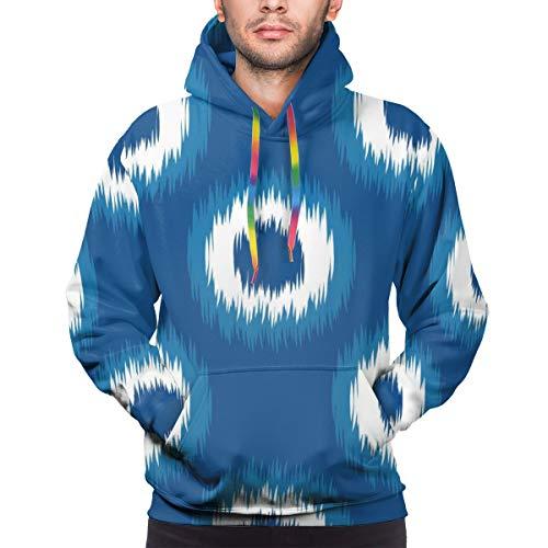Harry wang Der Hoodie der Männer Imitat-Bindungs-Färbungs-Webart-Textilnahtlose Vektor-Hintergrund-Fliese, XXL Sweatshirt