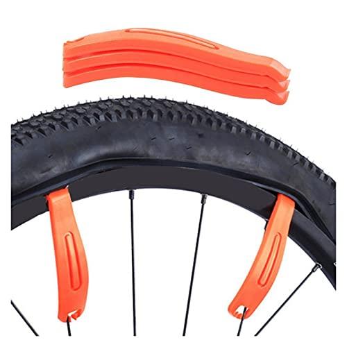 Palanca de neumáticos de bicicleta Cuchara de neumáticos 3 unids ultraligero duradero curvado de plástico endurecido de plástico neumático removedor de palanca de neumáticos MTB Herramienta de neumáti