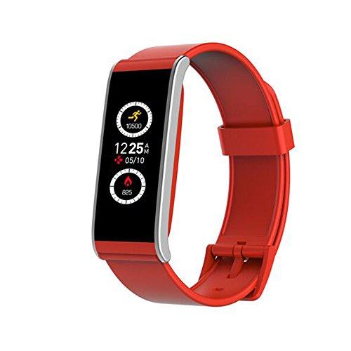 "MyKronoz ZeFit4 Wristband Activity Tracker Rojo, Plata IP67 TFT 2,69 cm (1.06"") Inalámbrico - Rastreadores de Actividad (Wristband Activity Tracker, Rojo, Plata, Rojo, Tocar, Carga, IP67)"