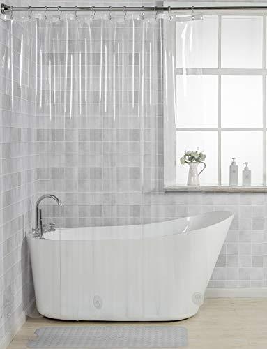 vinyl shower curtain clear - 4
