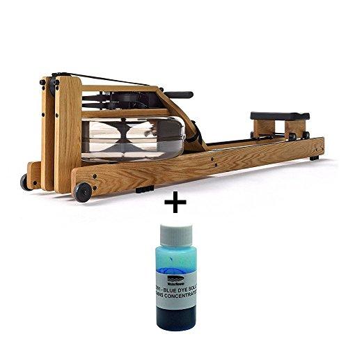Waterrower Aparato de remo de roble con pintura de agua azul, aparatos de fitness para casa y abdomen, piernas y glúteos, plegable, dispositivo de fitness de madera de roble con monitor S4 Waterrower