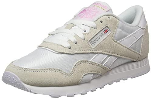 Reebok Womens Classic Nylon Sneaker Blanc Blanc Grey Clair 35 UK