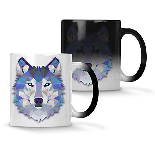 Origami Wolf Wasserfarben Farbwechsel 33 cl Tasse o56w