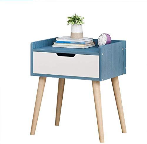 File cabinets Nachttisch, einfacher Haushalt, Spind, Schlafzimmer, Montage mit Pumpe, Badezimmer, Wohnzimmer, Flur, 33 x 28 x 44 cm, Beistelltisch (Farbe: Blaues Holz)