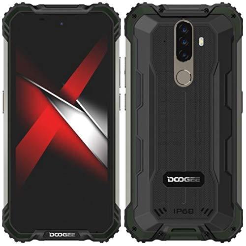 Móvil Resistente Android 10 DOOGEE S58 Pro, 5.7 '' Teléfono Antigolpes IP68 /IP69k Impermeable, Octa Core 6GB RAM 64GB ROM, 16MP + 16MP + 2MP + 2MP, Batería 5180mAh, NFC OTG GPS Dual SIM Verde