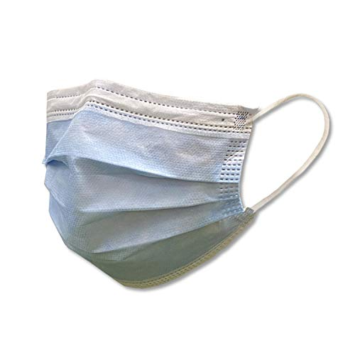 METIKO Surgical Masks Disposable Face Mask - Pack of 50 - Blue