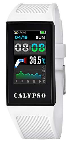 CALYPSO Reloj Modelo K8501/1 de la colección SMARTWATCH, Caja de 23,80/41,30 mm con Correa de Caucho Multicolor para Caballero