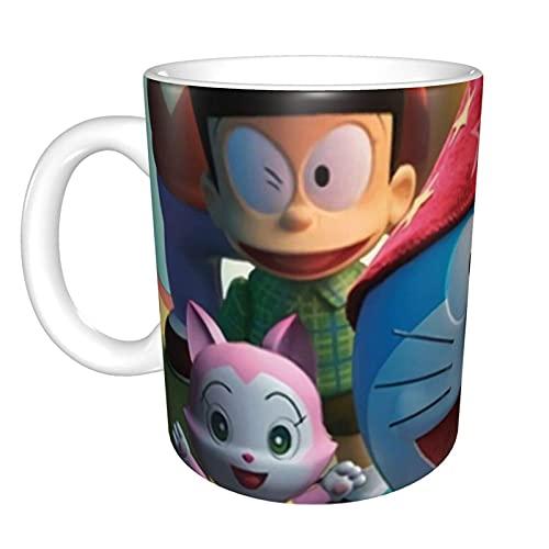 Doraemon - Taza para cumpleaños, Navidad, divertida, regalo de celebración, novedad, grande, resistente, mango para lavavajillas, microondas, sublimación cerámica
