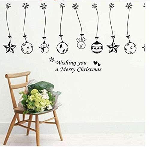 ZAWAGU - Adesivi da parete, regalo artistico, sfere per la casa, campane, catena da appendere, etichetta da parete, negozi di decorazione per vetrine