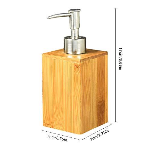 Bamboe zeepdispenser desinfecterend middel emulsie voorraadfles drukfles douchegel shampoo-badkameraccessoires